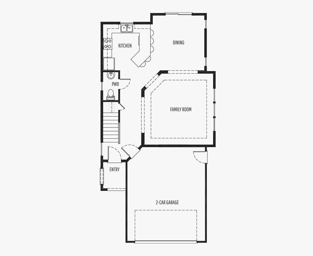 1722 Square Feet   Two Story    3 Bedrooms   3 Bathrooms   2 car garage