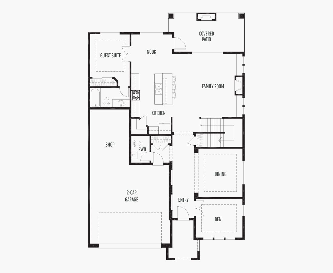 3296 Square Feet | Two Story  | 5 Bedrooms | 5 Bathrooms | 2 + shop car garage