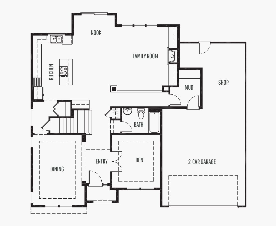3108 Square Feet   Two Story    4 Bedrooms   4 Bathrooms   3 Tandem car garage