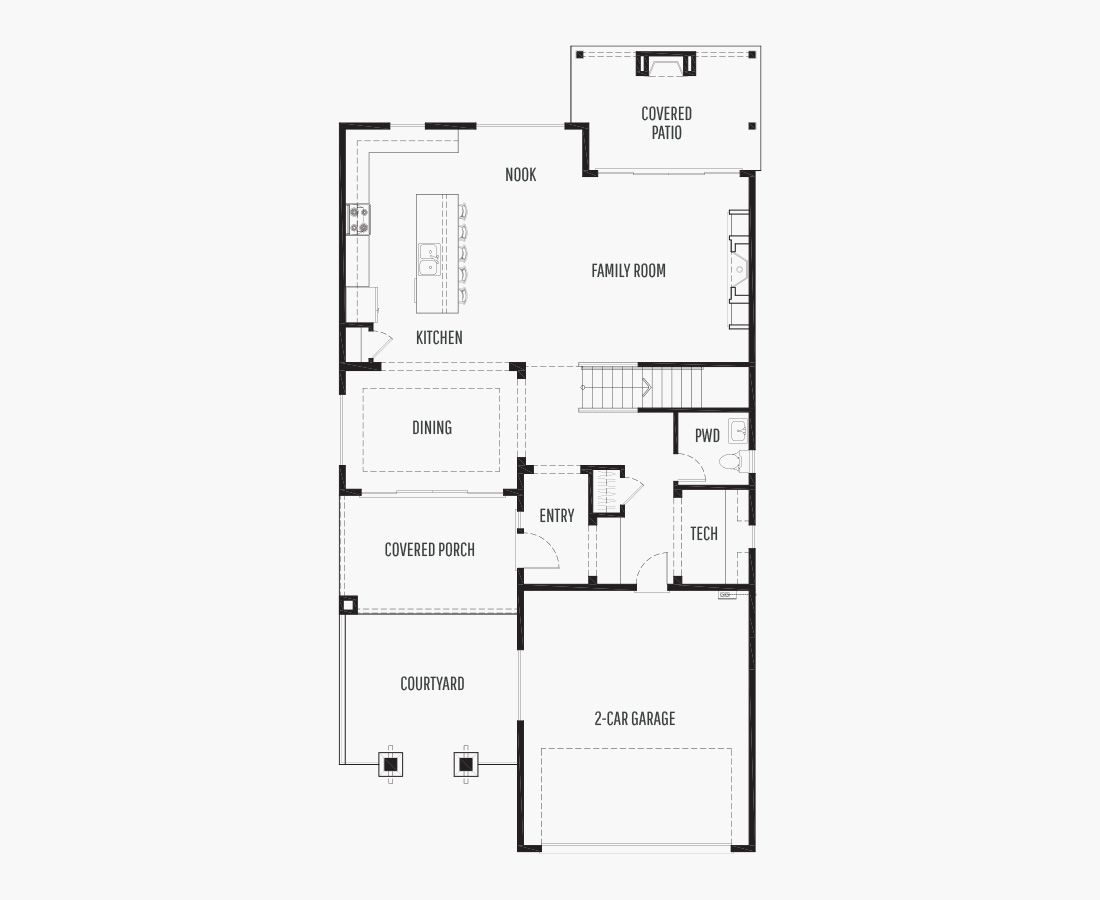 2529 Square Feet | Two Story  | 3 Bedrooms | 3 Bathrooms | 2 car garage