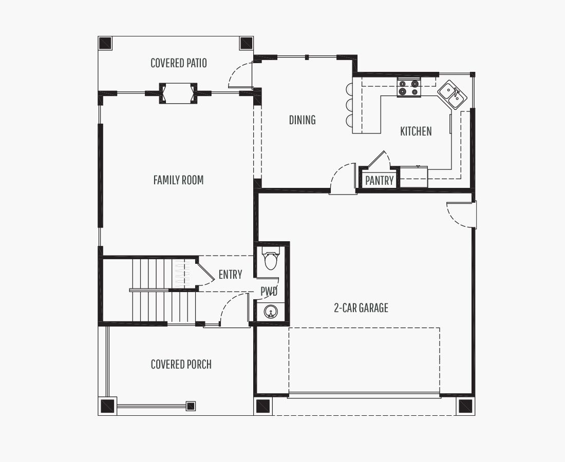 1591 Square Feet | Two Story  | 3 Bedrooms | 3 Bathrooms | 2 car garage