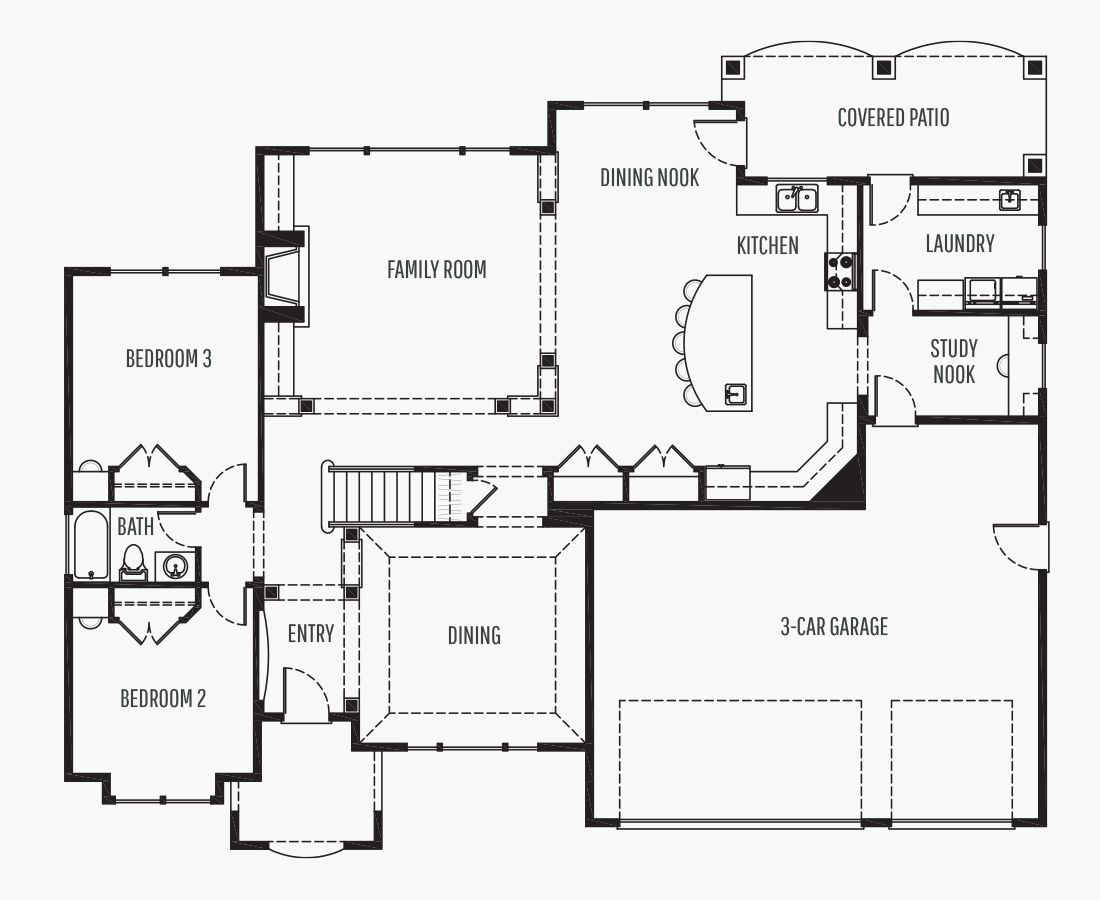 4074 Square Feet | Two Story  | 4 Bedrooms | 4 Bathrooms | 3 car garage