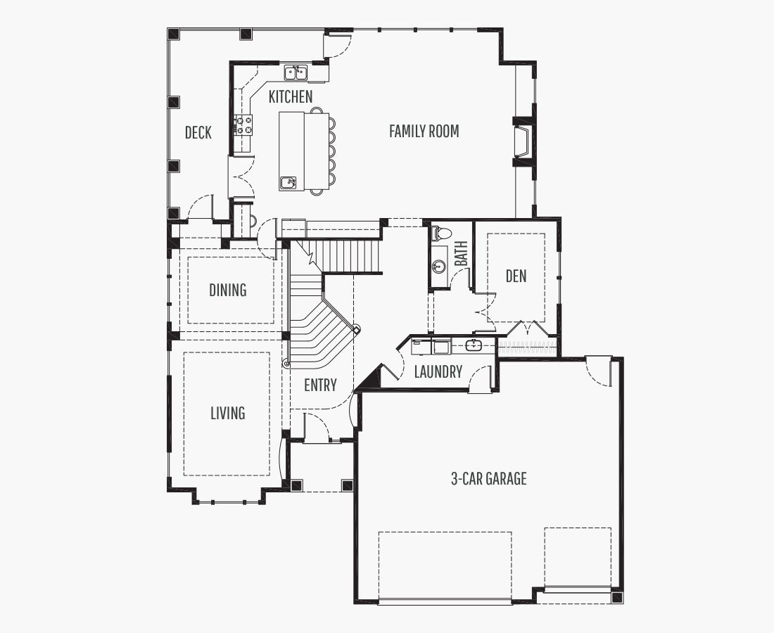 4891 Square Feet | Two Story Sloping  | 3 Bedrooms | 3 Bathrooms | 3 car garage