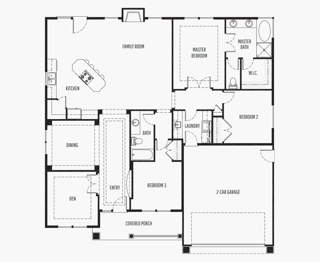 1891 Square Feet   One Story Rambler    3 Bedrooms   3 Bathrooms   2 car garage