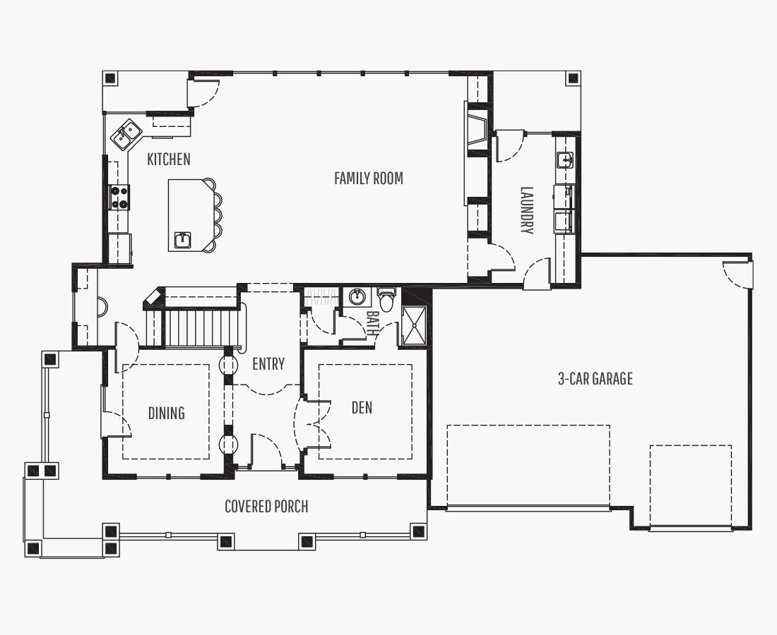 3324 Square Feet | Two Story  | 3 Bedrooms | 3 Bathrooms | 3 car garage