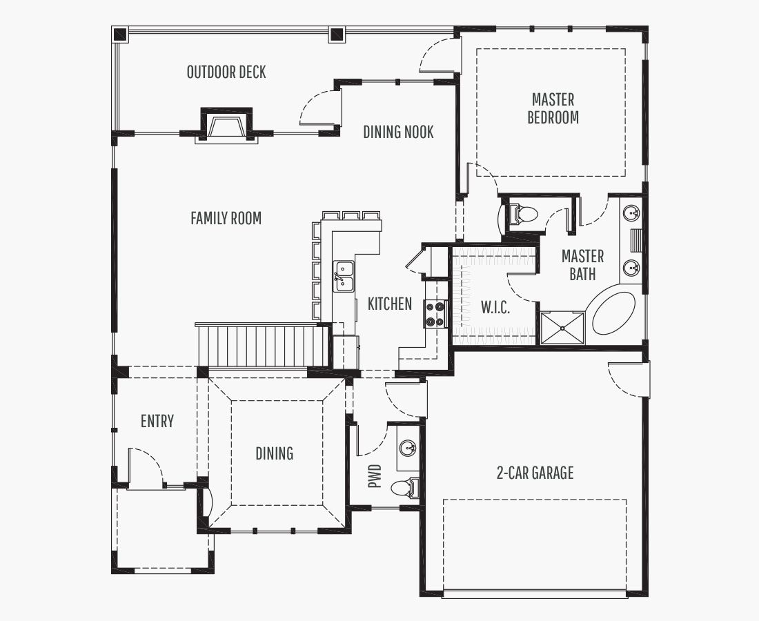 2615 Square Feet   One Story Sloping    3 Bedrooms   3 Bathrooms   2 car garage