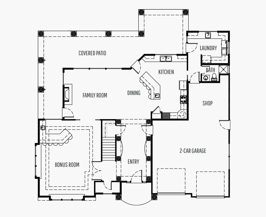 3614 Square Feet | Two Story  | 3 Bedrooms | 3 Bathrooms | 2 + shop car garage