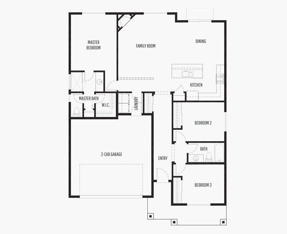1442 Square Feet | One Story Rambler  | 3 Bedrooms | 3 Bathrooms | 2 car garage