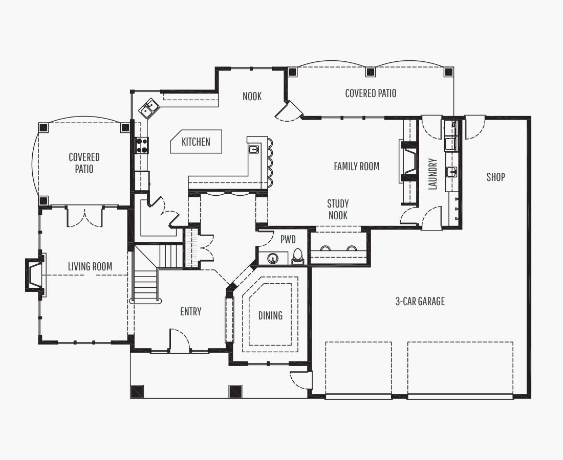 4082 Square Feet | Two Story  | 4 Bedrooms | 4 Bathrooms | 3 + shop car garage