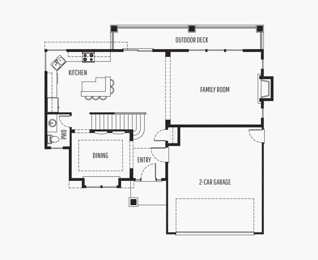 2928 Square Feet | Two Story Sloping  | 4 Bedrooms | 4 Bathrooms | 2 car garage