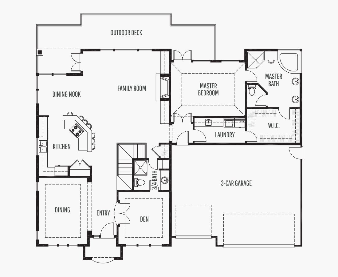 3061 Square Feet   One Story Sloping    4 Bedrooms   4 Bathrooms   3 car garage