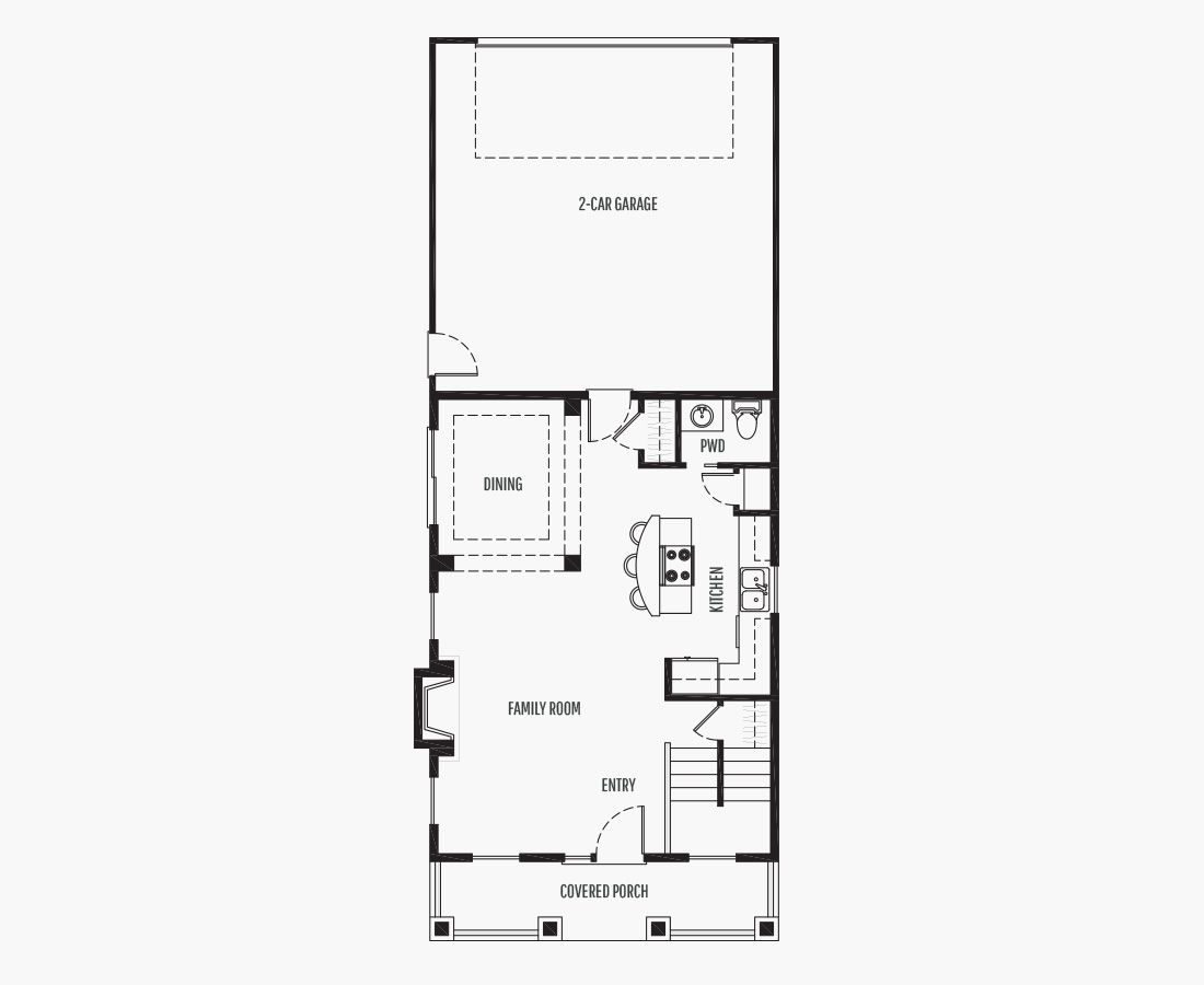 1734 Square Feet   Two Story    4 Bedrooms   4 Bathrooms   2 (alley) car garage