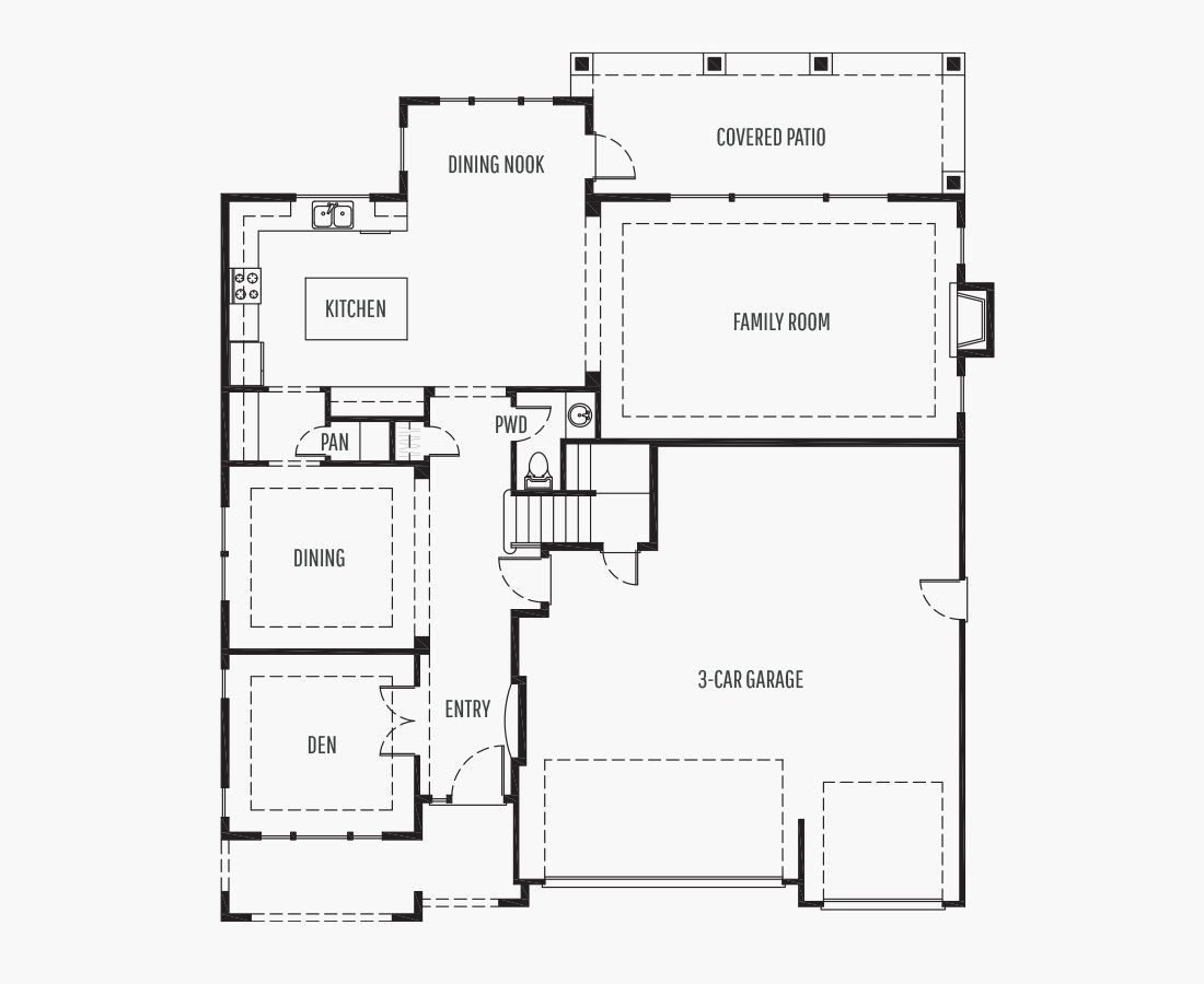 3689 Square Feet   Two Story    3 Bedrooms   3 Bathrooms   3 car garage