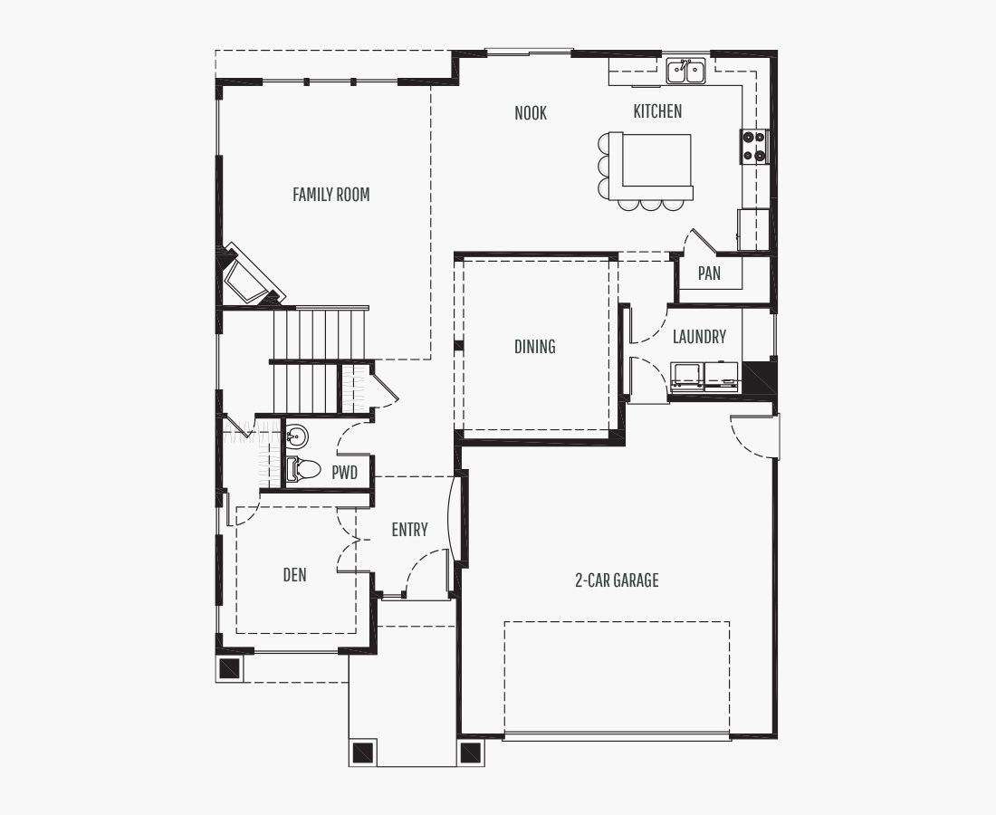 2569 Square Feet | Two Story  | 3 Bedrooms | 3 Bathrooms | 2 car garage