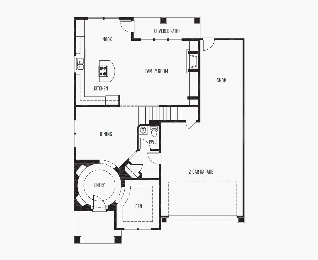 2842 Square Feet | Two Story  | 3 Bedrooms | 3 Bathrooms | 2 + shop car garage