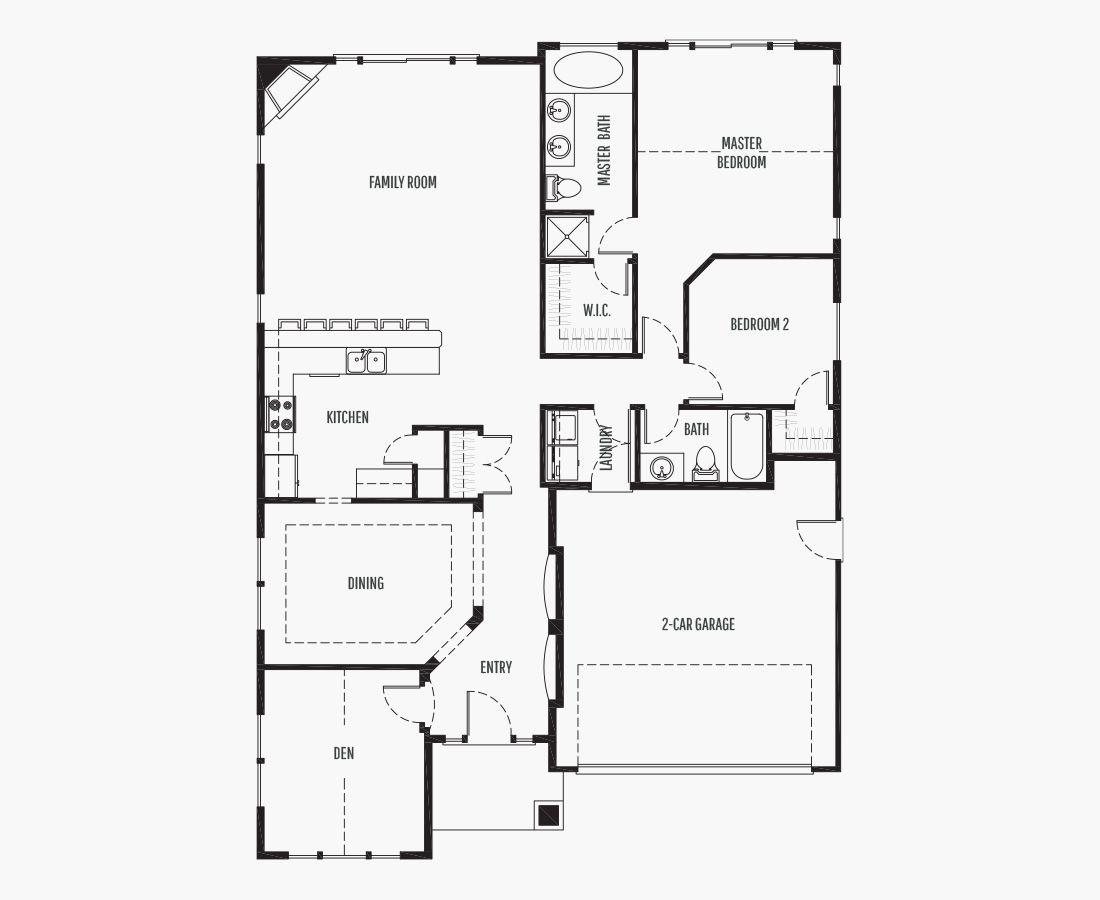 1656 Square Feet   One Story Rambler    2 Bedrooms   2 Bathrooms   2 car garage