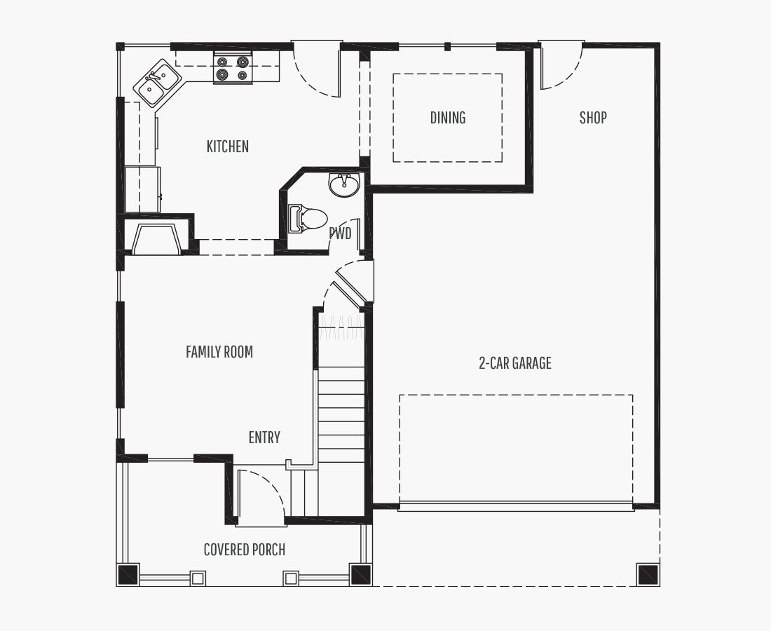 1324 Square Feet | Two Story  | 3 Bedrooms | 3 Bathrooms | 2 car garage