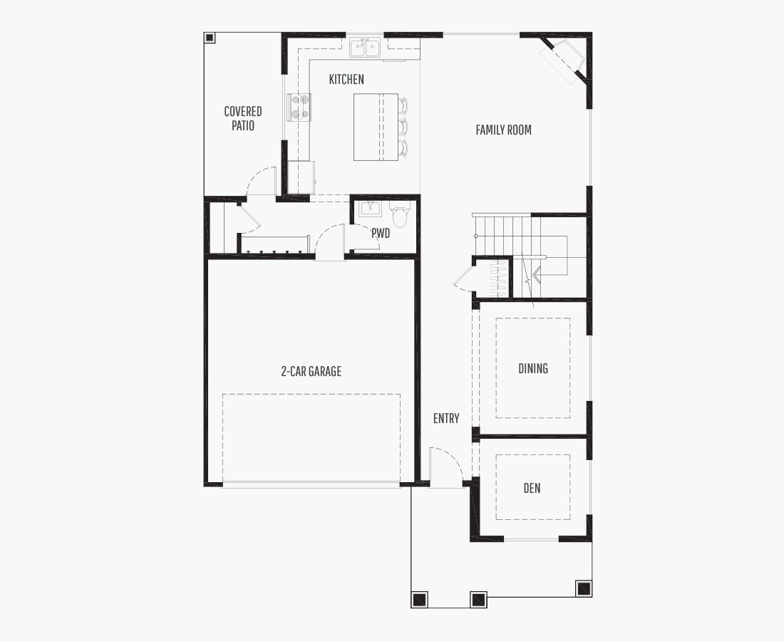 2240 Square Feet   Two Story    3 Bedrooms   3 Bathrooms   2 car garage