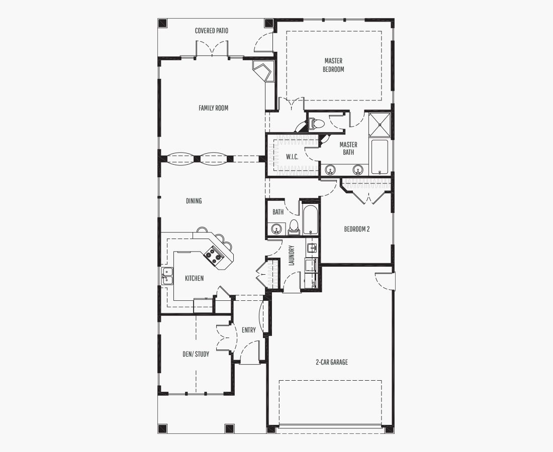1688 Square Feet | One Story Rambler  | 2 Bedrooms | 2 Bathrooms | 2 car garage