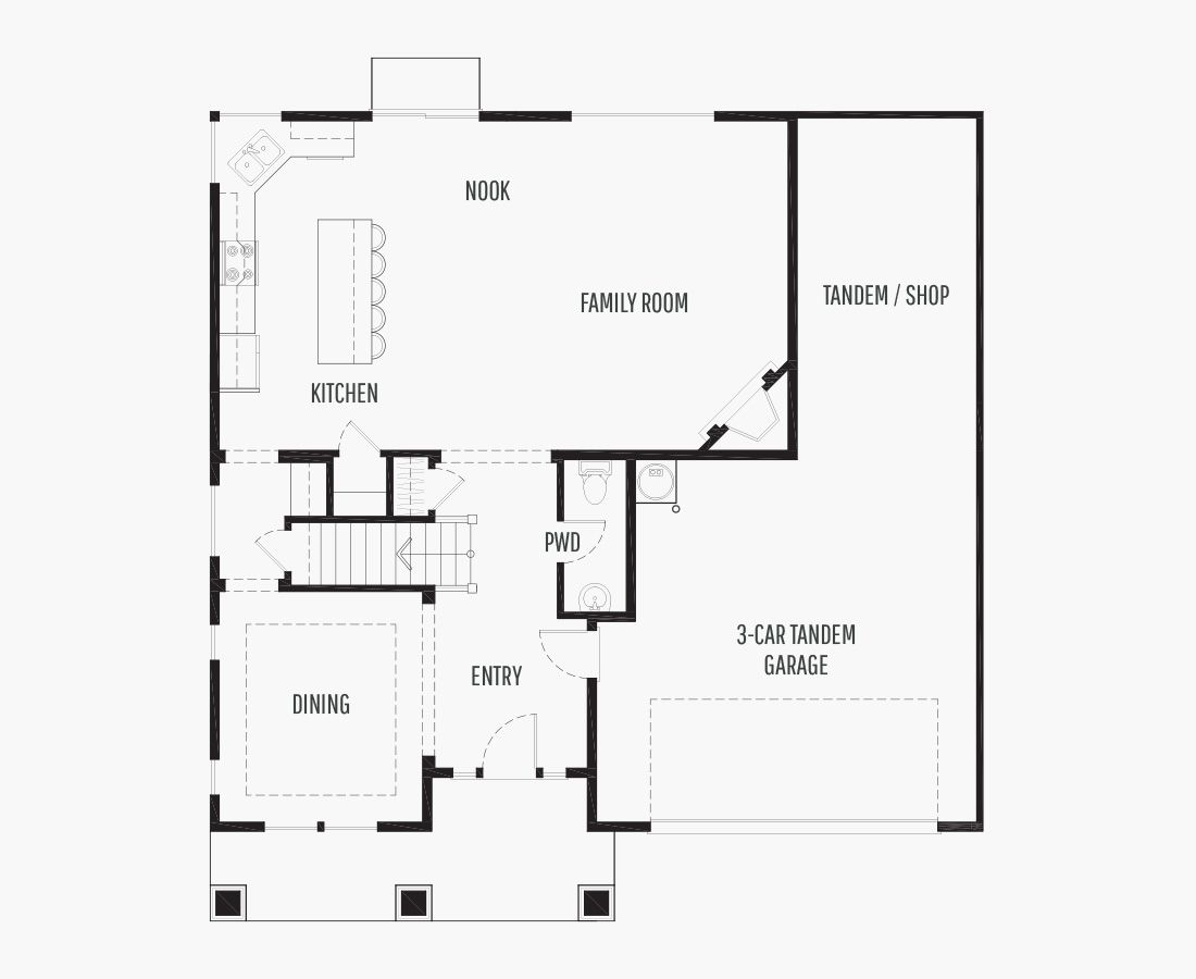 2652 Square Feet | Two Story  | 4 Bedrooms | 4 Bathrooms | 3 tandem car garage