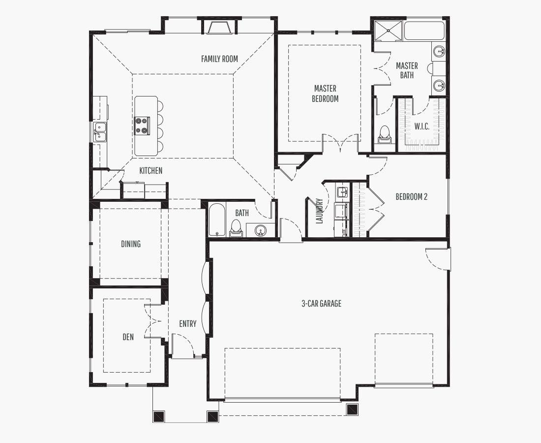 1831 Square Feet | One Story Rambler  | 2 Bedrooms | 2 Bathrooms | 3 car garage