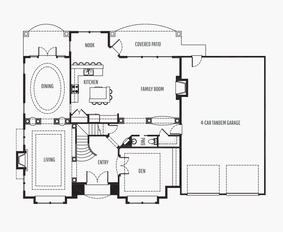 4100 Square Feet   Two Story    4 Bedrooms   4 Bathrooms   4 car garage