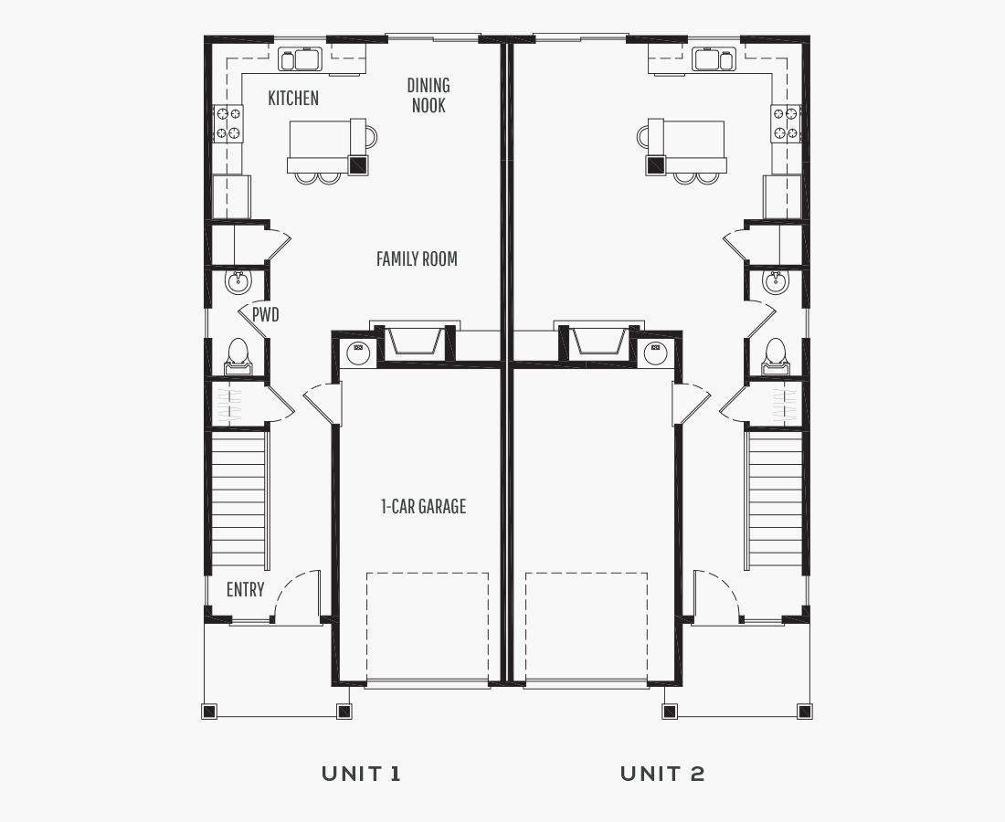 1399 Square Feet   Duplex    3 Bedrooms   2.5 Bathrooms   1 car garage