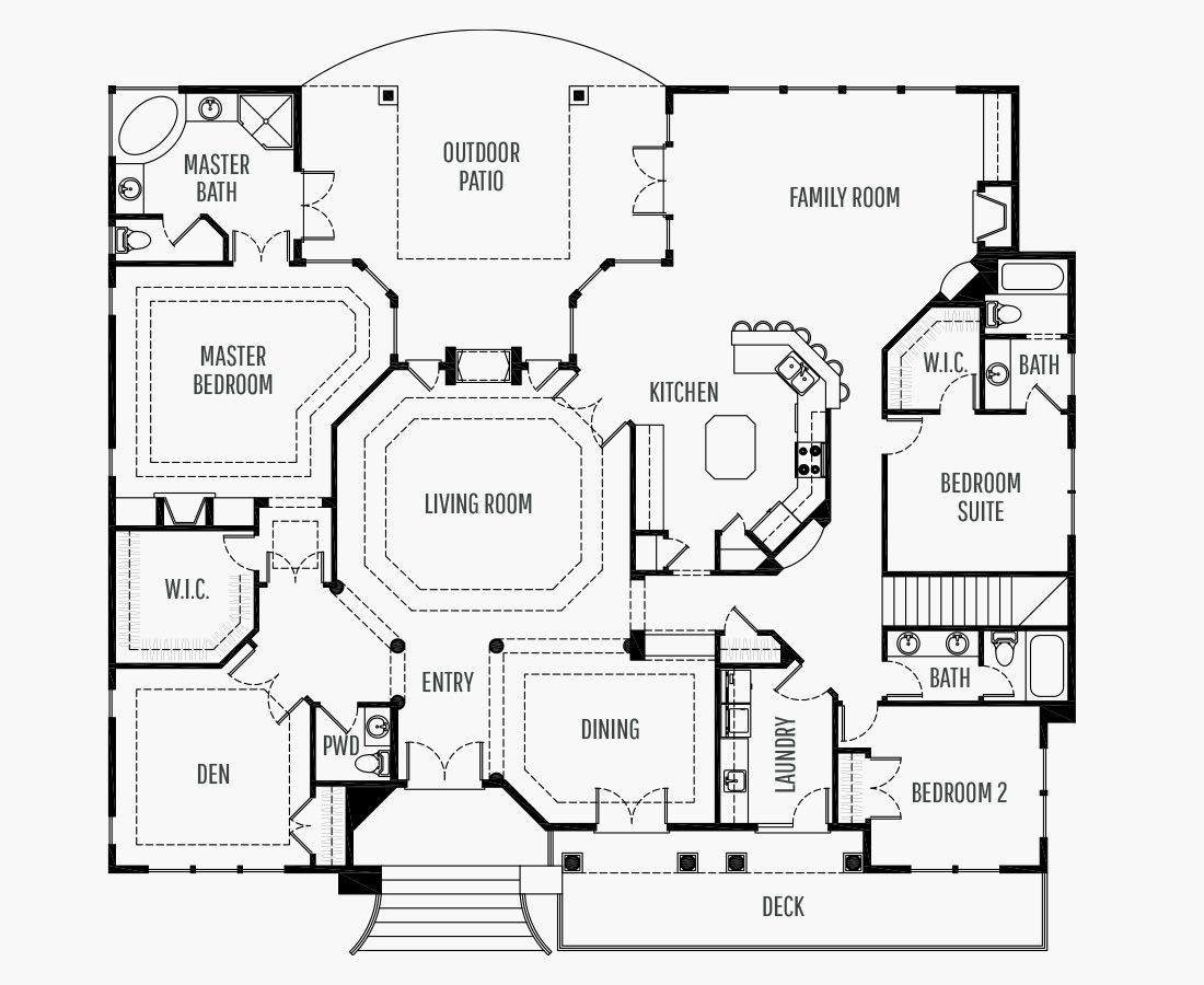 3197 Square Feet | One Story Sloping  | 3 Bedrooms | 3 Bathrooms | 3 car garage