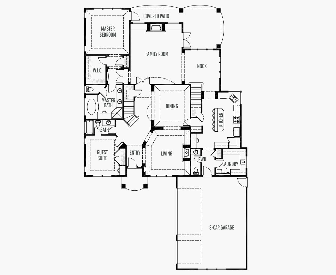 4275 Square Feet   Two Story    4 Bedrooms   4 Bathrooms   3 car garage