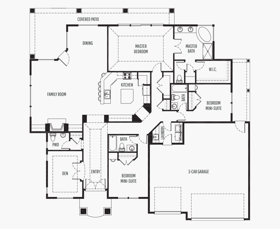 2470 Square Feet | One Story Rambler  | 3 Bedrooms | 3 Bathrooms | 3 car garage