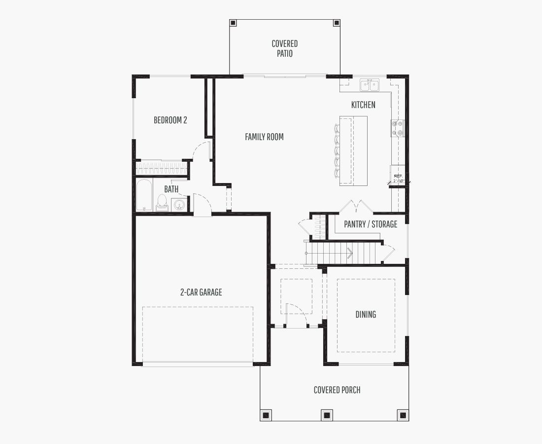 2802 Square Feet | Two Story  | 4 Bedrooms | 4 Bathrooms | 2 car garage