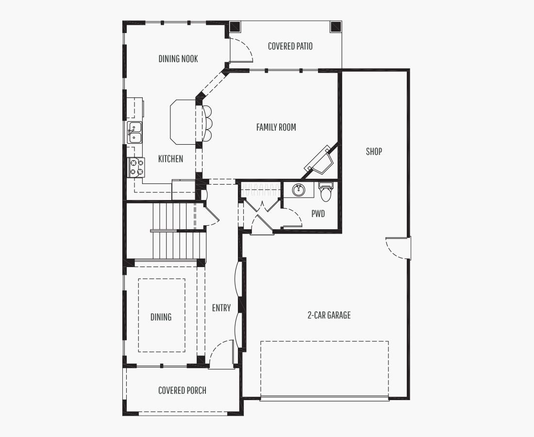2315 Square Feet   Two Story    4 Bedrooms   4 Bathrooms   2 + shop car garage