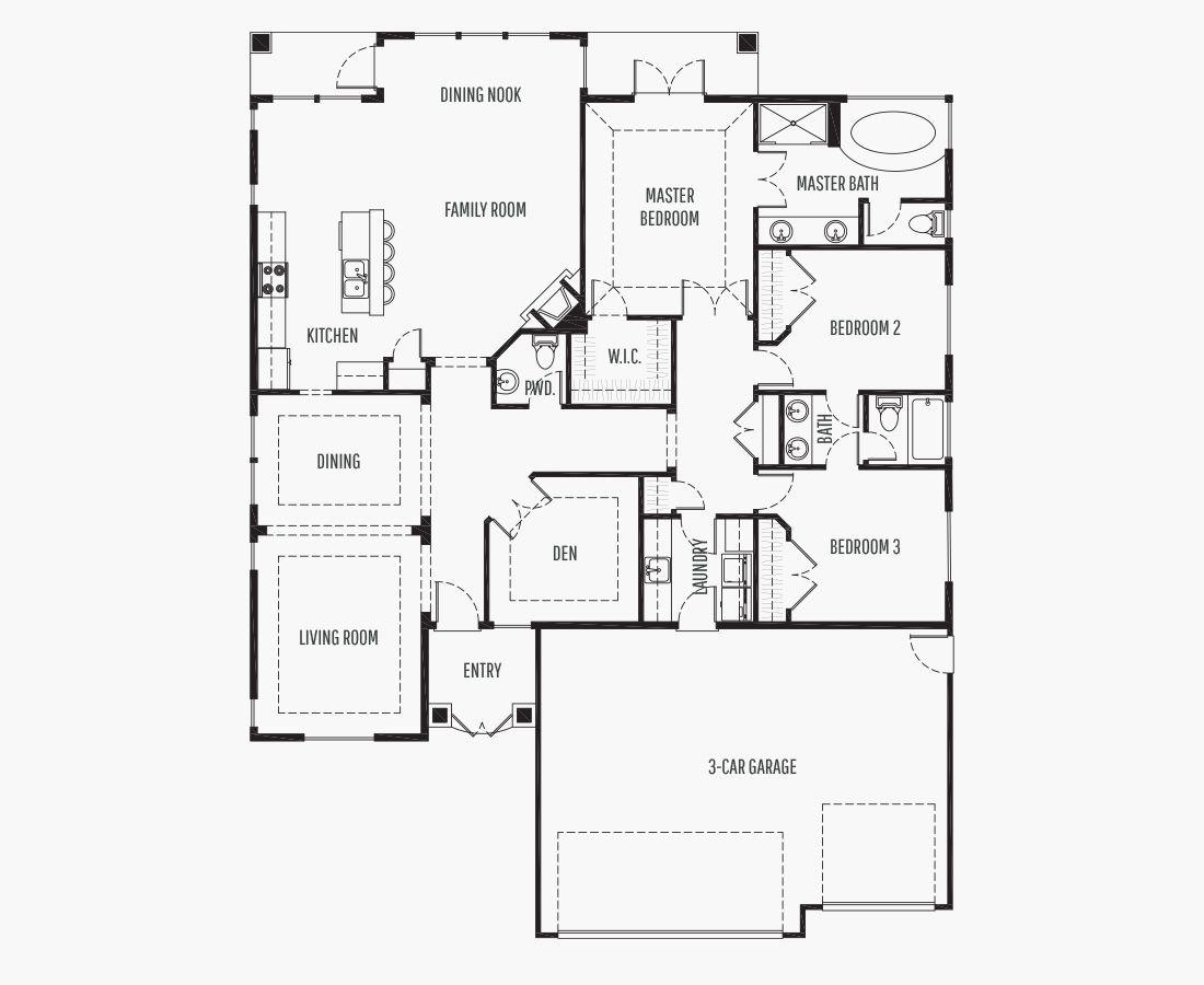 2069 Square Feet | One Story Rambler  | 3 Bedrooms | 3 Bathrooms | 3 car garage