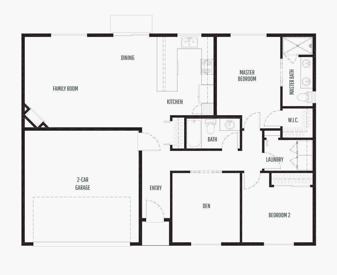 1326 Square Feet | One Story Rambler  | 2 Bedrooms | 2 Bathrooms | 2 car garage
