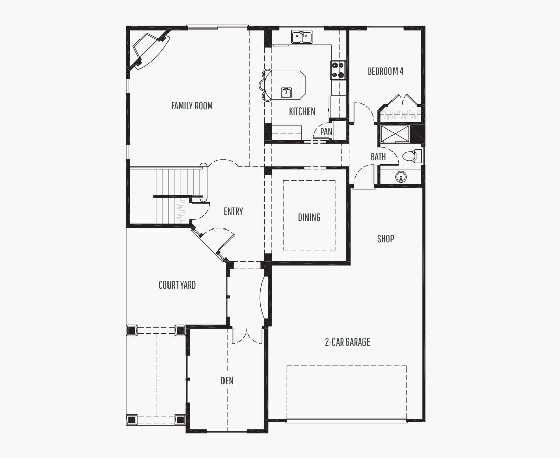 2635 Square Feet | Two Story  | 4 Bedrooms | 4 Bathrooms | 2 + shop car garage