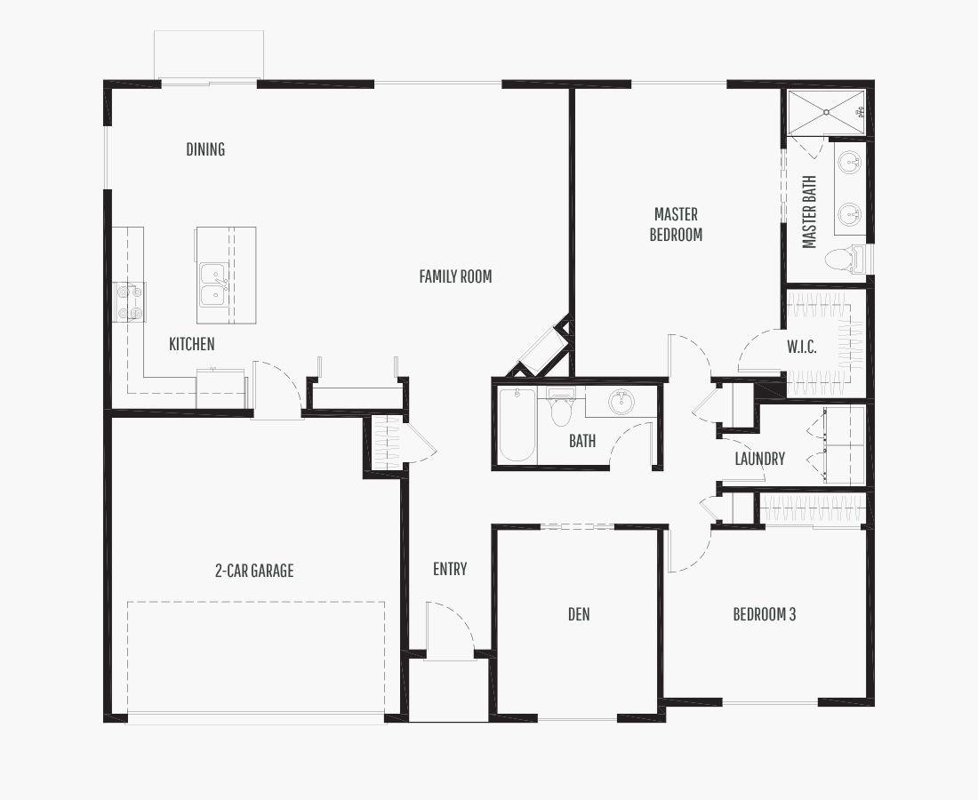 1602 Square Feet | One Story Rambler  | 2 Bedrooms | 2 Bathrooms | 2 car garage