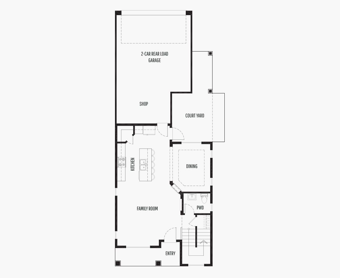 1812 Square Feet | Two Story  | 3 Bedrooms | 3 Bathrooms | 2 (alley) car garage