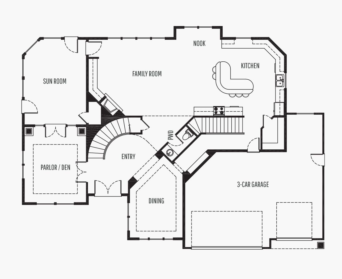 4543 Square Feet | Two Story  | 4 Bedrooms | 4 Bathrooms | 3 + shop car garage