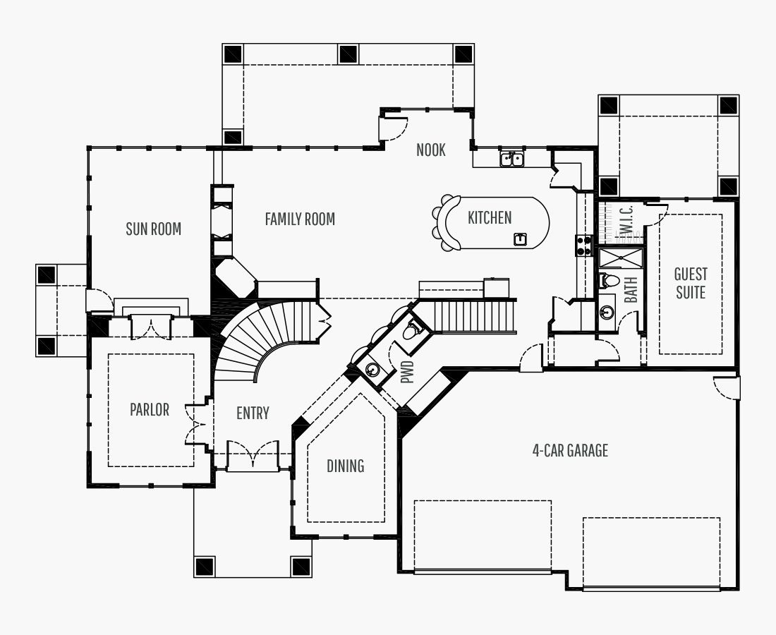 5463 Square Feet   Two Story    5 Bedrooms   5 Bathrooms   4 car garage