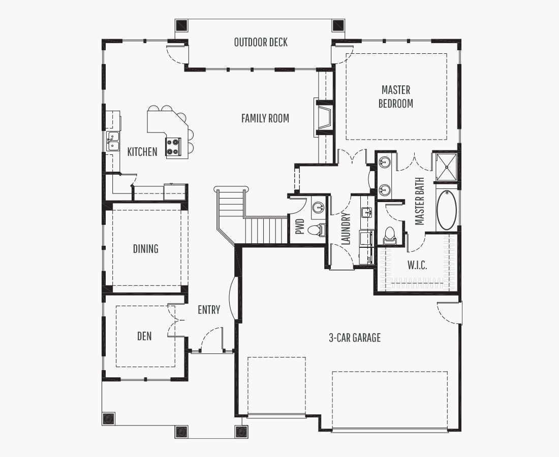 3168 Square Feet   One Story Sloping    4 Bedrooms   4 Bathrooms   3 car garage