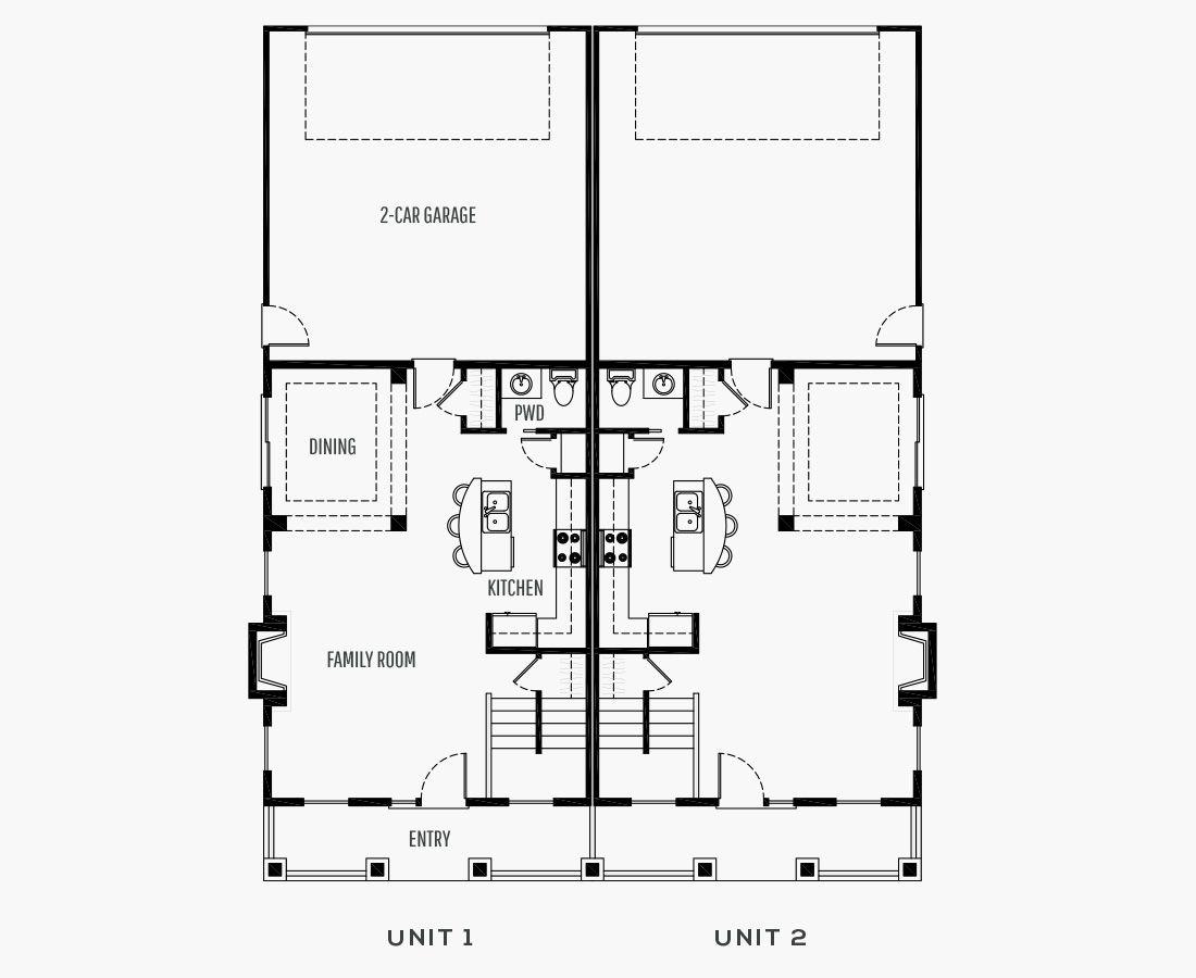 1734 Square Feet | Duplex  | 3 Bedrooms | 2.5 Bathrooms | 2 (Alley) car garage