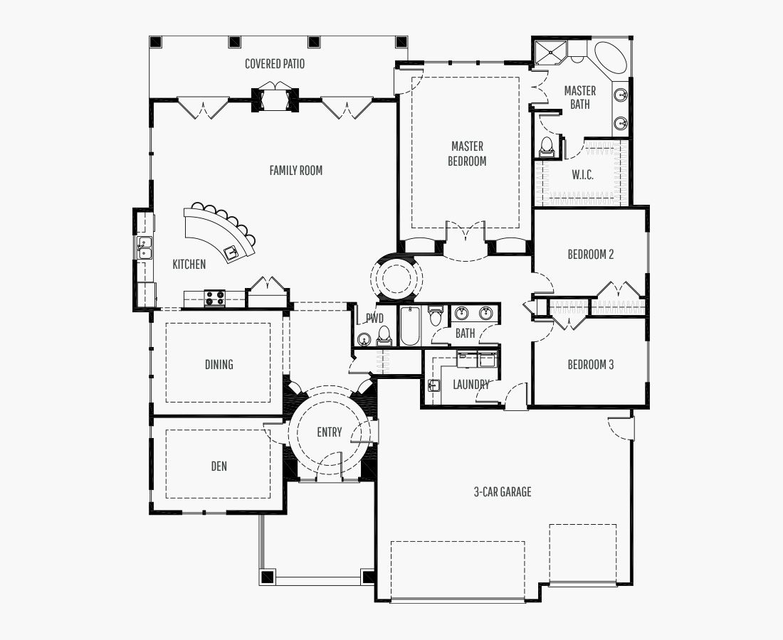 2688 Square Feet | One Story Rambler  | 3 Bedrooms | 3 Bathrooms | 3 car garage
