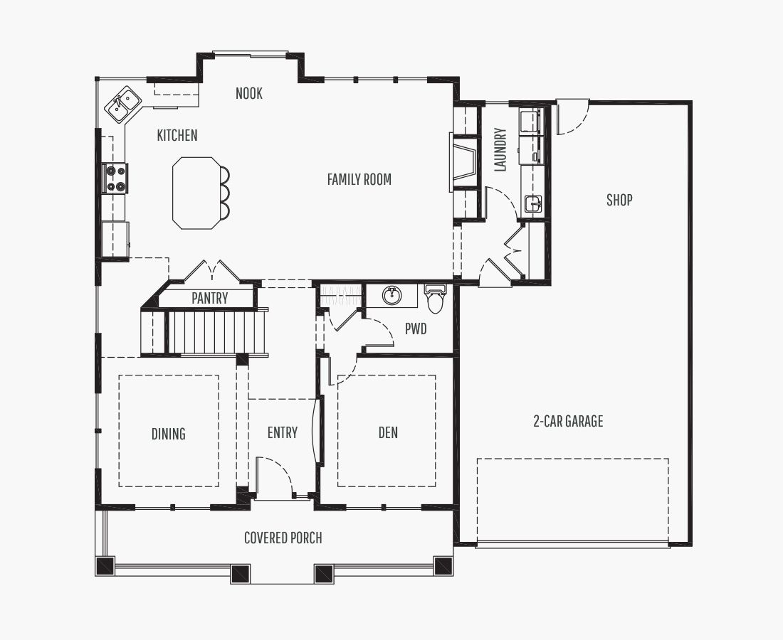 2267 Square Feet   Two Story    3 Bedrooms   3 Bathrooms   2 + shop car garage