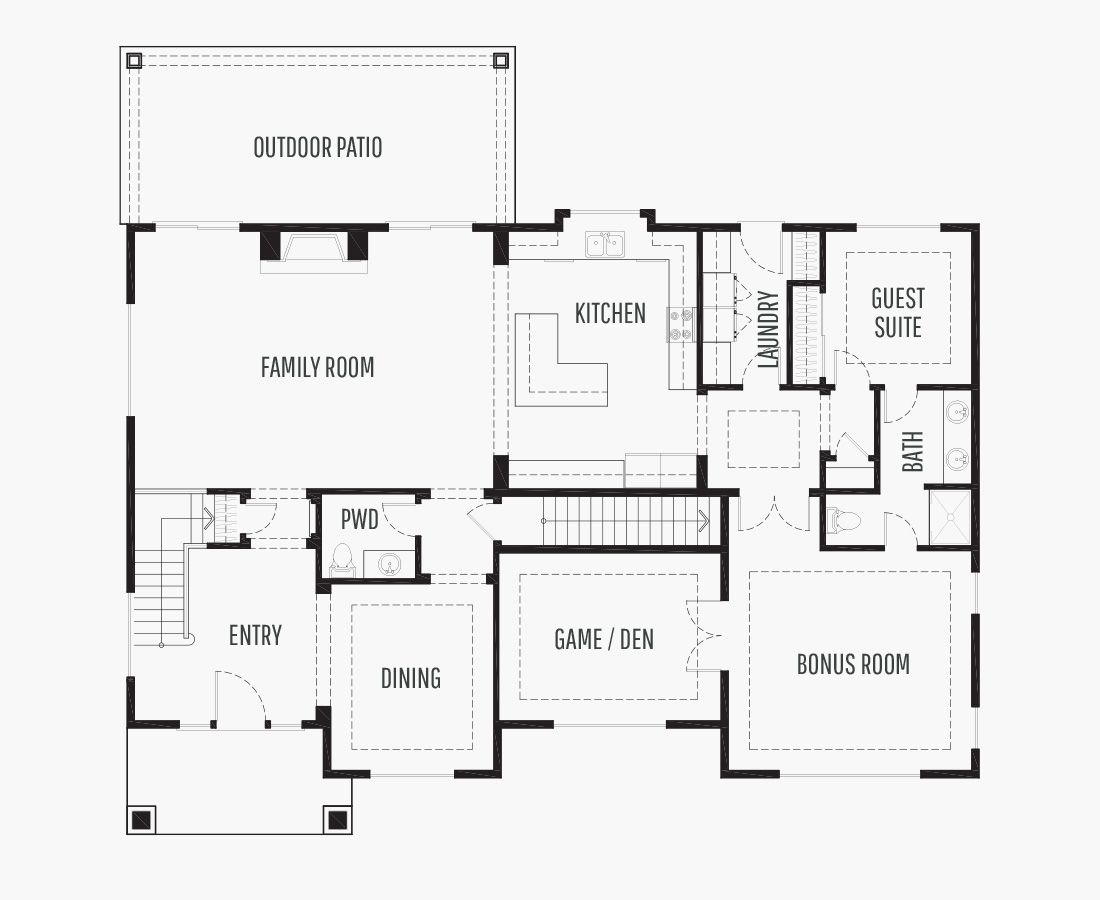 3734 Square Feet   Two Story Sloping    5 Bedrooms   5 Bathrooms   3 car garage