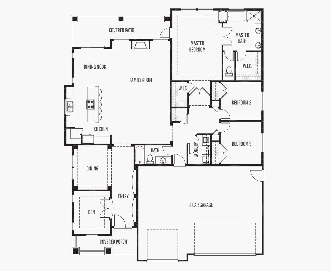 2164 Square Feet | One Story Rambler  | 3 Bedrooms | 3 Bathrooms | 3 car garage