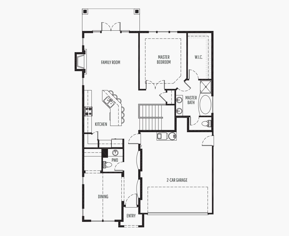 2196 Square Feet | Two Story  | 3 Bedrooms | 3 Bathrooms | 2 car garage